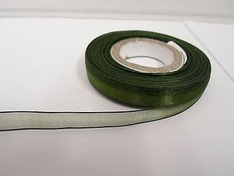 9mm Sheer Organza Ribbon 2 metres or 25 metre roll double sided 9 mm UK
